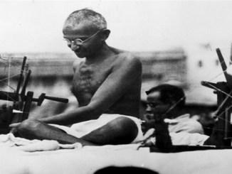 Gandhi in Mirazpur