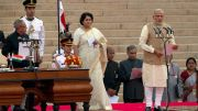 Modi taking oath as Prime Minister for first term