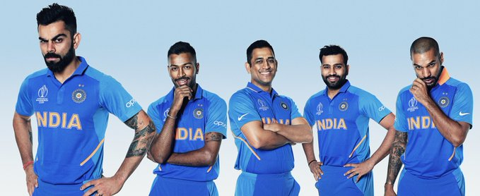 Team India for Cricket World Cup