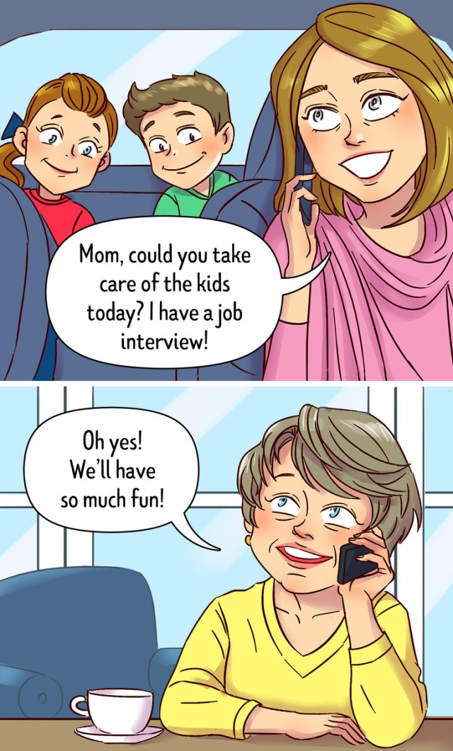 10 Comics About the Ironic Changes Our Moms Go Through After They Become Grandmas