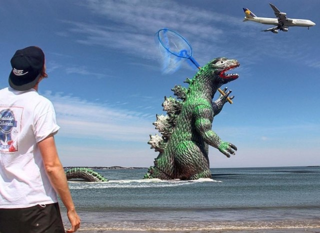 A Guy Won't Stop Photoshopping Godzilla Into His Travel Photos, and It Makes Them 10 Times Better