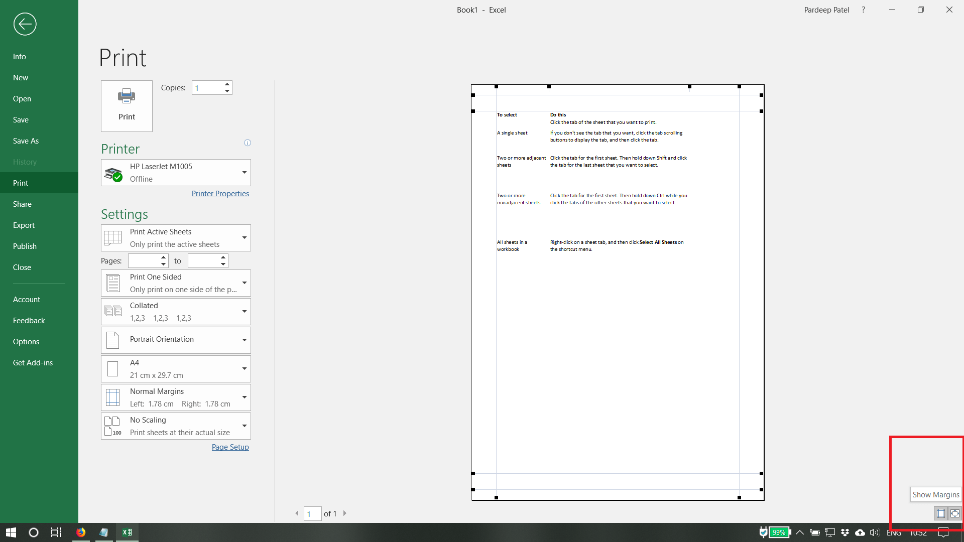 How To Set Page Margins Before Printing A Worksheet Of