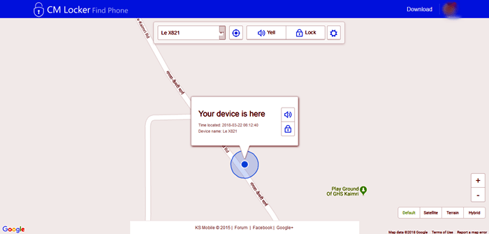 Trace Mobile Location on PC