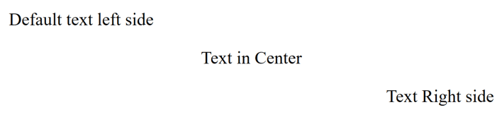 HTML Text Alignment