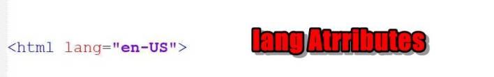 HTML lang Attributes