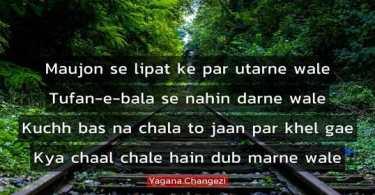 Yagana Changezi Shayari in Hindi
