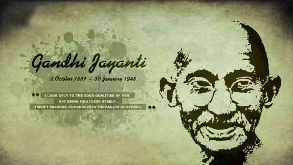5 Lines on Gandhi Jayanti in Hindi