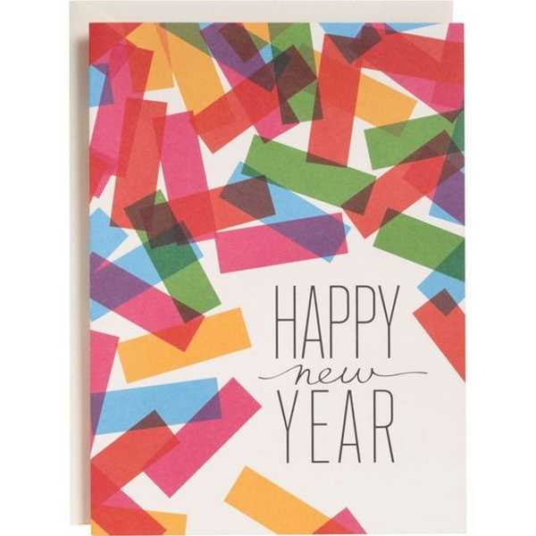 New year card homemade
