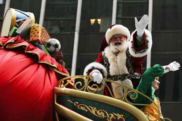 santa clause and elves