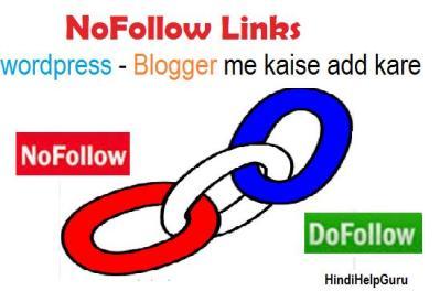 Nofollow link How to add wordpress
