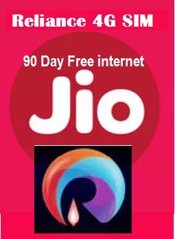 Reliance JIO 4G SIM With 90 Day