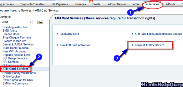 atm debit card online apply kaise kare