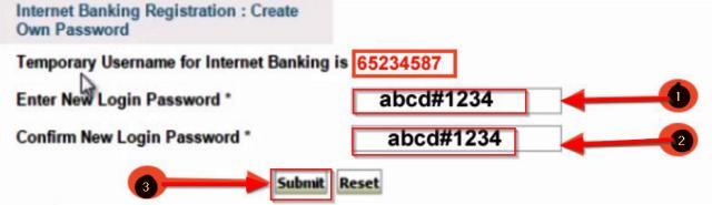 online sbi reset password