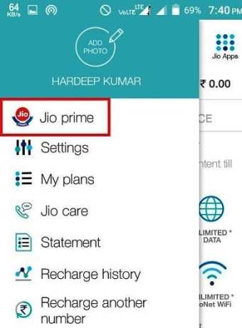 jio prime offer registration