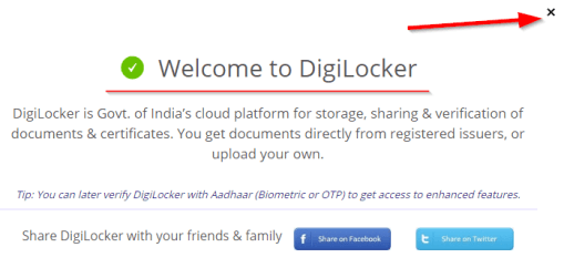 successfully create digilocker account