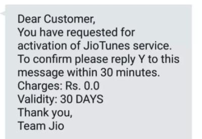 confirm jio free caller tune