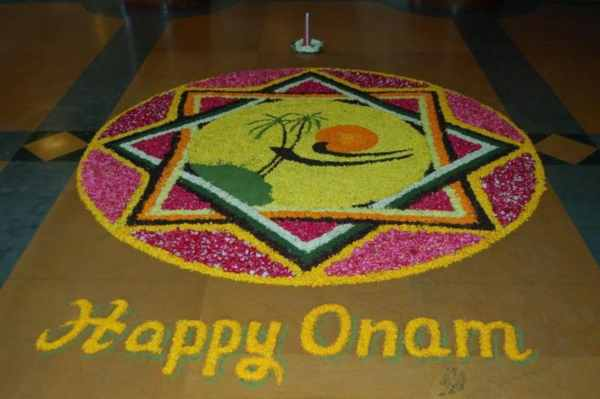 Onam Rangoli Designs with Flowers – Simple & Easy Pookalam Designs for Onam Festival