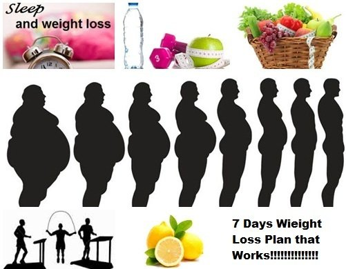 weight loss in seven days