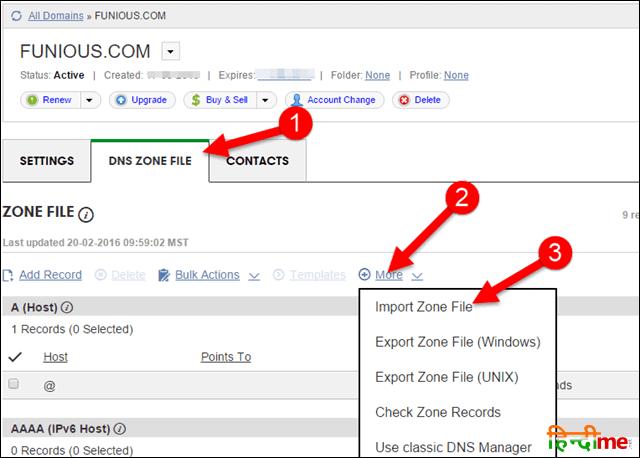 Import Zone File