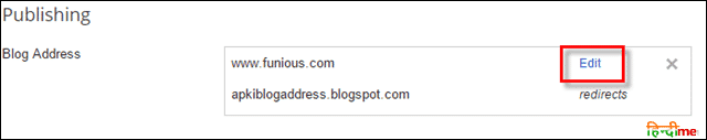 Save blog address