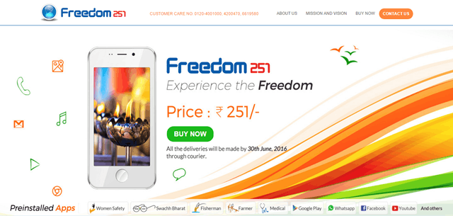Freedom 251 is Real or Fake or a Scam