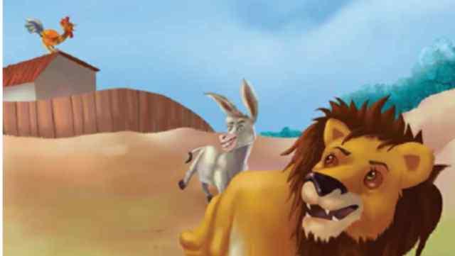 गधा, मुर्गा और शेर Moral Stories in Hindi
