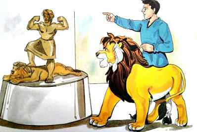 आदमी और शेर with Lion Top 10 Moral Stories in Hindi