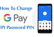 change UPI PIN in hindi