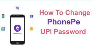 phonepe upi pin change