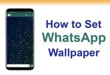 whatsapp wallpaper not changing