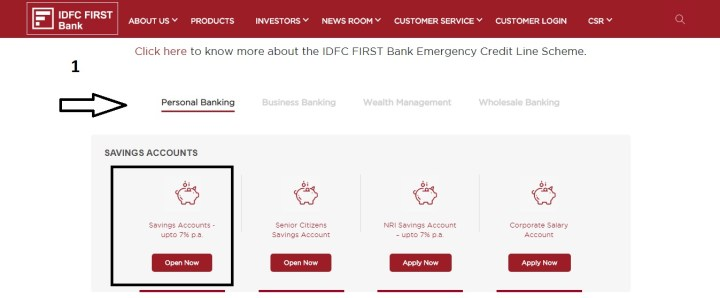 IDFC FIRST BANK ACCOUNT OPENING PROCEES