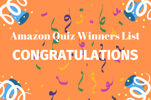 Amazon Quiz Winners List