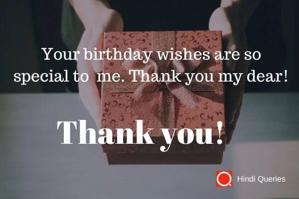 belated thanks for birthday wishes Hindi Queries