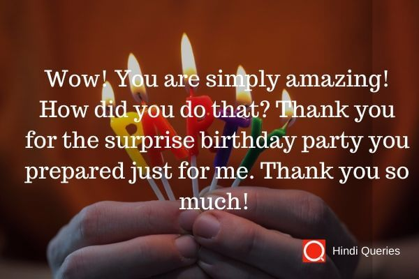 big thanks for birthday wishes Hindi Queries