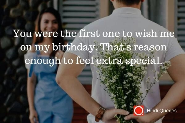 birthday wishes for a thanks Hindi Queries