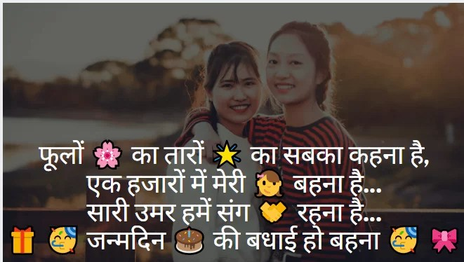 Happy Birthday Shayari in Hind Happy Birthday Shayari for Sister in Hindi