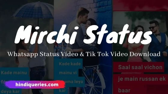 Mirchi Status WhatsApp Status Download Video Song