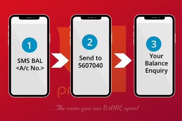 pnb sms balance check number