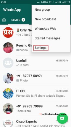 Whatsapp me Blue Tick Ko Kaise Disable kare