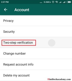 WhatsApp Two Step Verification kya hai isko kaise istemal kare