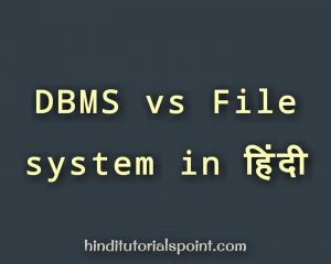dbms vs file system in hindi