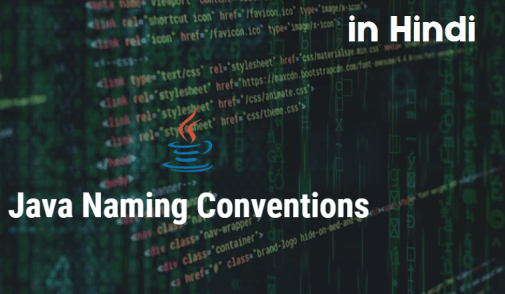 naming conventions in java in hindi