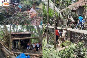 'निसर्ग' तूफान से कोंकण में तबाही  राहत कार्यों में जुटे संघ के स्वयंसेवक