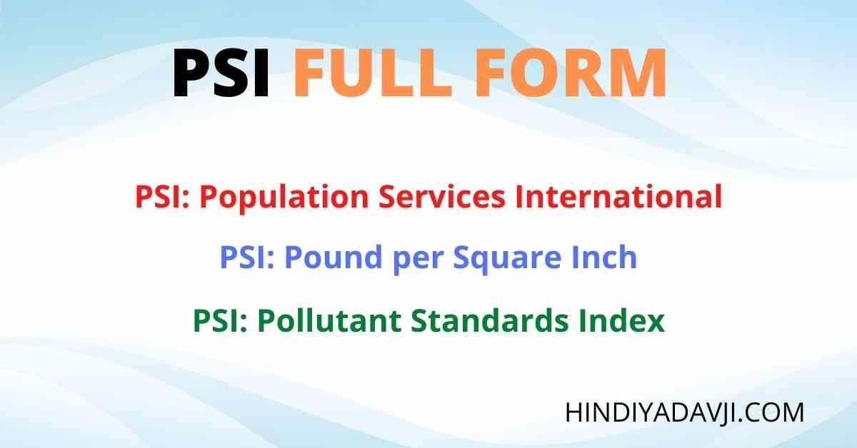 PSI-FULL-FORM