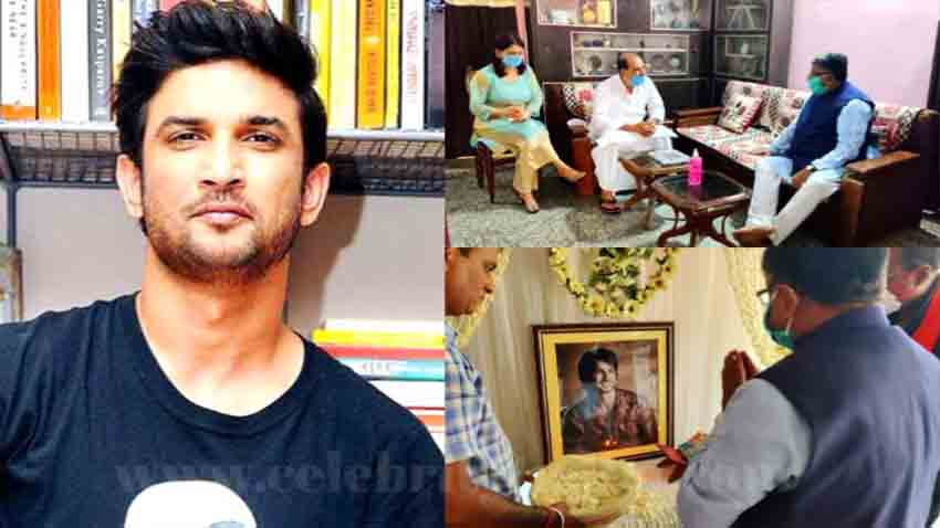 सुशांत सिंह राजपूत के घर पहुंचे कानून मंत्री, दिवंगत अभिनेता को दी श्रद्धांजलि