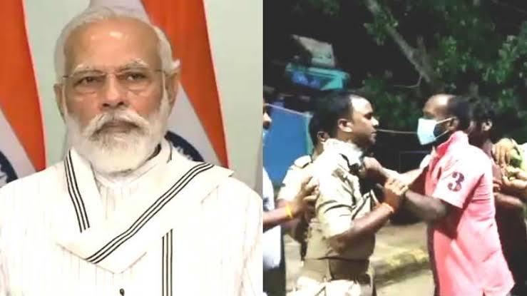 पीएम मोदी के संसदीय क्षेत्र में ही भाजपा नेता ने पुलिसकर्मियों को पीटा, मास्क न लगाने के चलते पुलिस ने रोका था रास्ता