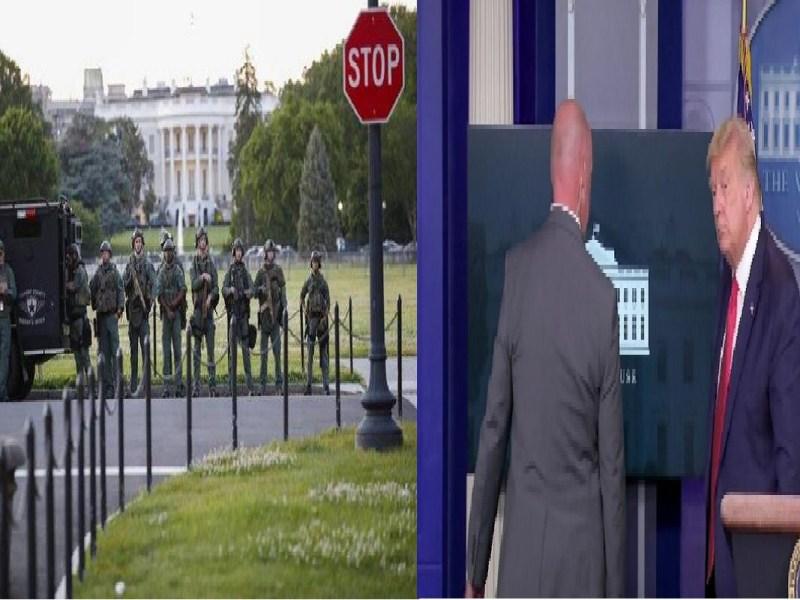White House के बाहर चली गोलियां,राष्ट्रपति डोनाल्ड ट्रंप को महफूज जगह लेकर गए
