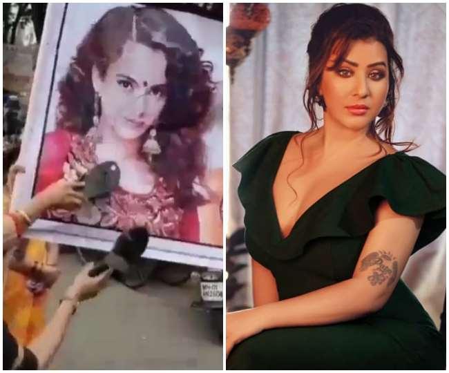 कंगना के खिलाफ प्रदर्शन करने वालों पर भड़की शिल्पा शिंदे, कहा &Quot;औरत ही औरत की दुश्मन&Quot;