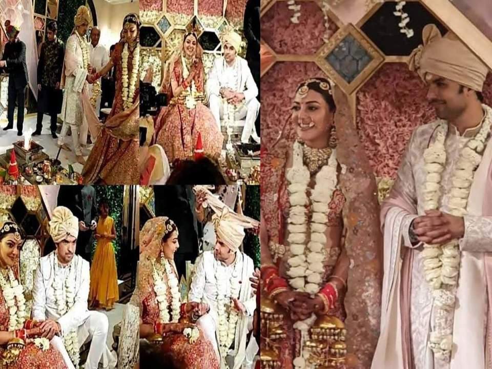 काजल अग्रवाल की शादी की पहली तस्वीर आई सामने, पति गौतम किचलू को जयमाल पहनाते दिखी अभिनेत्री