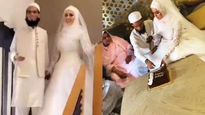 सना खान और मुफ्ती अनस की शादी की अनदेखी तस्वीरें, इस ड्रेस में लग रही हैं खूबसूरत